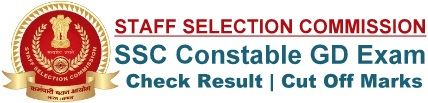SSC Constable GD Result Cut off Marks Merit List