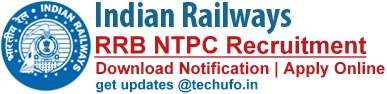 RRB NTPC Recruitment CEN 01_2019 Notification Apply Online