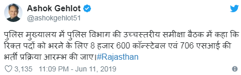Rajasthan Police 8600 Constable Bharti 2019 Latest News