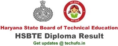 HSBTE Result Haryana Diploma Odd Even Semester Results