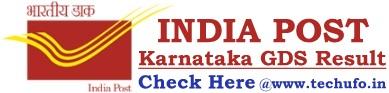 Karnataka Postal GDS Result Merit List Cutoff