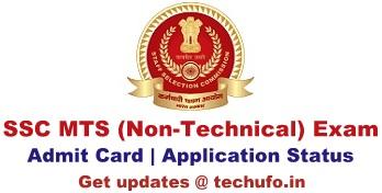 SSC MTS Admit Card Download Multi Tasking Staff Exam Hall Ticket Region wise Application Status