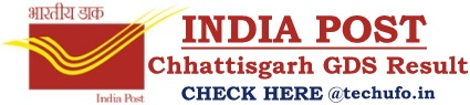CG Postal GDS Result Chhattisgarh Post Gramin Dak Sevak Merit List Cutoff Marks