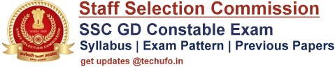 SSC GD Syllabus Constable General Duty Exam Pattern & Previous Papers PDFs