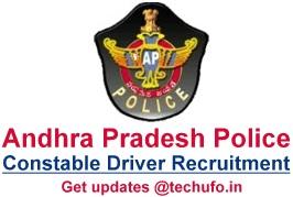 AP Police Driver Recruitment SLPRB Andhra Pradesh Constable Notification Online Application Form