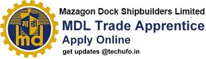 MDL Trade Apprentice Recruitment Notification Online Application Form