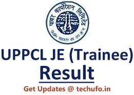 UPPCL Junior Engineer Result UP Energy JE Electrical Merit List Cutoff Marks