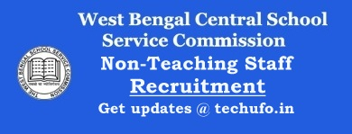WBSSC Non Teaching Staff Recruitment Notification Clerk Group D Jobs Apply Online Application Form