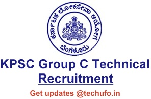 KPSC Group C Technical Recruitment Notificaiton & Online Application Form