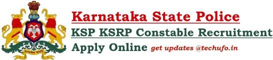 KSP KSRP Constable Recruitment SRPC Notification Online Application