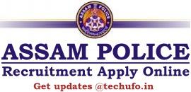 Assam Police Recruitment 2020 Notification SLPRB Online Application