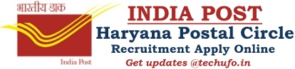 Haryana Postal Circle Recruitment Notification Post Office Online Application