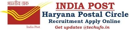 Haryana Postal Circle Recruitment Notification Post Office Online Application
