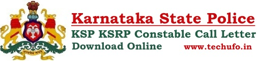 KSP KSRP Constable Admit Card SRPC Call Letter Download