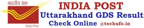 Uttarakhand Postal GDS Result Gramin Dak Sevak Merit List