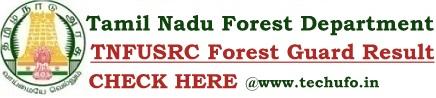 TNFUSRC Result Forest Guard Merit List FG Cut off Marks