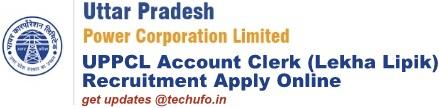 UPPCL Account Clerk Recruitment Lekha Lipik Bharti Notification Online Form