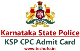 Karnataka Police Constable Admit Card KSP CPC Call Letter Exam Admission Hall Ticket