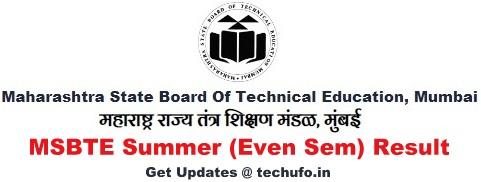 MSBTE Result Summer Result Maharashtra Diploma Polytechnic Even Sem Results