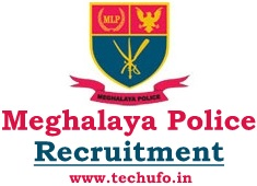Meghalaya Police Recruitment Notification UB AB Sub Inspector Constable Posts Online Application Form