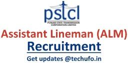 PSTCL Assistant Lineman Recruitment Notification ALM Online Application Form