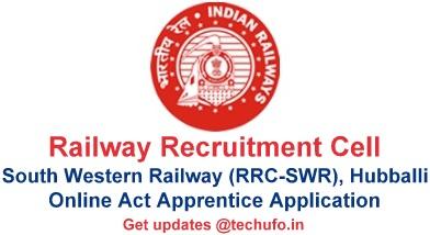 RRC SWR Apprentice Recruitment Hubli Notification & Online Application Form