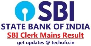 SBI Clerk Mains Result Junior Associate Main Exam Cutoff Marks Final Merit List