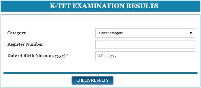 K-TET Exam Marks List Scorecard Download