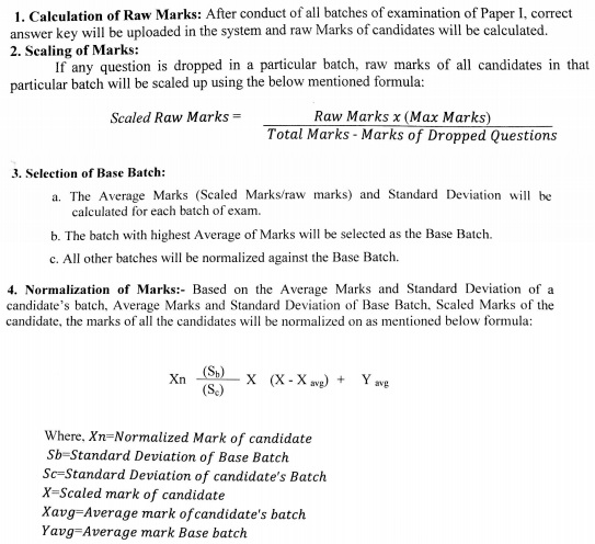 Maha Post Office Exam Marks Normalization Process