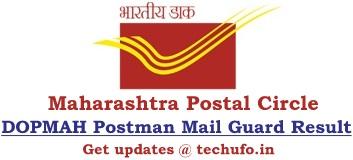 Maharashtra Postal Postman Result DOPMAH Postman Mail Guard Cutoff MH Post Merit List