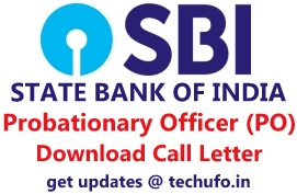 SBI PO Admit Card Download Probationary Officer Prelims Call Letter Hall Ticket