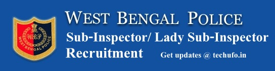 WB Police SI Recruitment WBPRB Notification West Bengal Police Sub Inspector Application Form