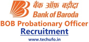 Bank of Baroda PO Recruitment BMSB PGDBF Notification BOB Probationary Officer Apply online application Form