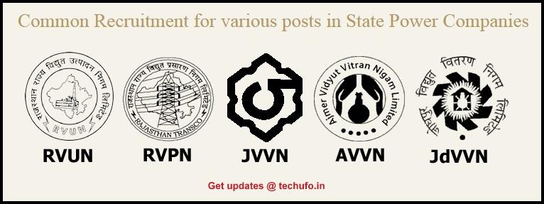 RVPN Recruitment JVVNL RVUNL JdVVNL AVVNL Notification Rajasthan Vidyut Vibhag Bharti Online Application Form