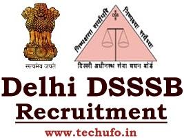 DSSSB Recruitment Notification TGT - Trained Graduate Teacher Online Application Form