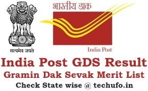 Gramin Dak Sevak Result India Post GDS Results Merit List Selection List