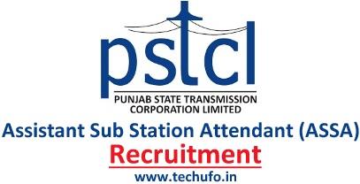 PSTCL Assistant Sub Station Attendant Recruitment ASSA Notification Online Application Form