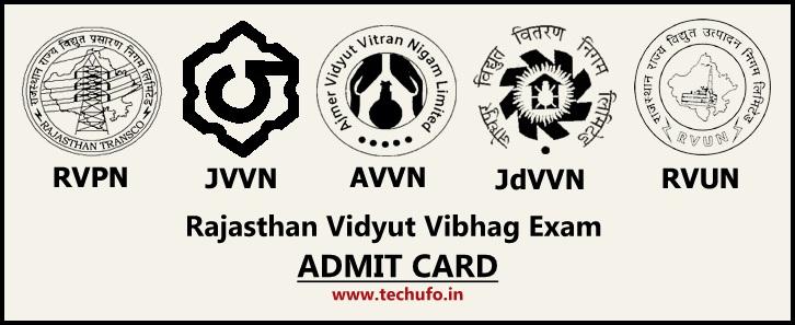 RVPN Admit Card Download Rajasthan RVPNL Junior Assistant, Jr Accountant, APO, JLO, Steno Call Letter