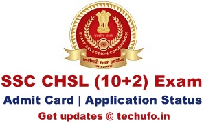 SSC CHSL Admit Card Download 10+2 LDC DEO PA SA Exam Call Letter Hall Ticket Region wise