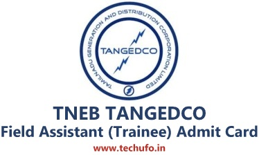 TANGEDCO Field Assistant Hall Ticket TNEB FA Trainee Exam Date Admit Card