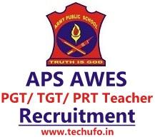 Army Public School Recruitment 2021 AWES Notification TGT PGT PRT Teacher Apply Online Application Form