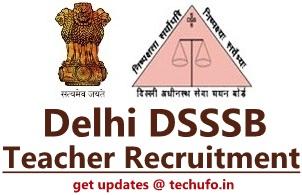 DSSSB Teacher Recruitment Notification Delhi TGT PGT PRT Application Form Apply Online