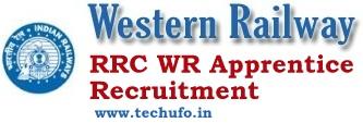 Western Railway Apprentice Recruitment Notification RRC WR Apply Online Application Form