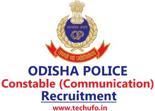 Odisha Police Constable Recruitment OP SBCC Constable (Communication) Notification Online Application Form Apply