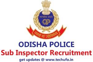 Odisha Police SI Recruitment OPRB Sub Inspector Notification Online Application Form