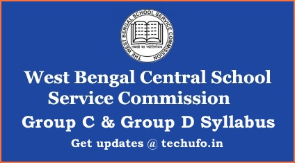 WBSSC Group C & D Syllabus 2021 Download West Bengal SSC Clerk Exam Pattern WB School Group D Previous Papers PDF