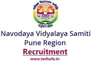 NVS Pune Region Recruitment Navodaya Vidyalaya TGT PGT Teacher FCSA Online Application Form Apply