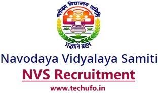 Navodaya Vidyalaya Recruitment Notification NVS Region wise TGT PGT Teacher FCSA Posts Apply Online Application Form