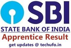 SBI Apprentice Result Merit List Cutoff Marks Scorecard